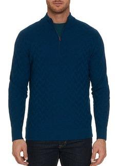 Robert Graham Men's Rowley Textured Wool Half-Zip Sweater