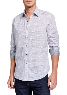 Robert Graham Men's Run In Circles Long-Sleeve Sport Shirt