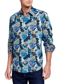 Robert Graham Men's Secret Garden Long Sleeve Sport Shirt
