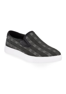 Robert Graham Men's Seldon Plaid Slip-On Sneakers