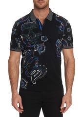 Robert Graham Men's Skull Island Contrast-Collar Polo Shirt