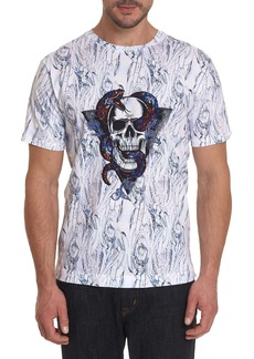Men's Snake Skull Tee Shirt Size: S by Robert Graham
