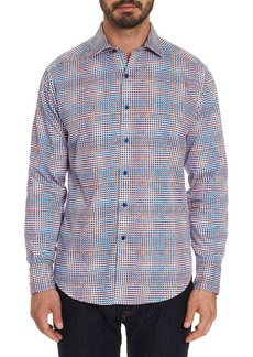 Robert Graham Men's Straton Multicolor Grid-Print Sport Shirt