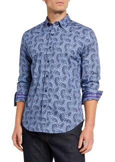 Robert Graham Men's Tailored-Fit Merriwether Long-Sleeve Sport Shirt