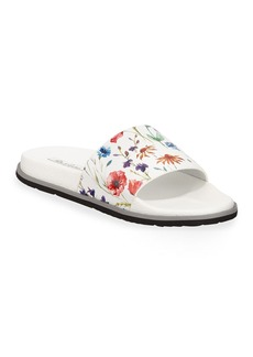 Robert Graham Men's Tasso Floral-Print Slide Sandals