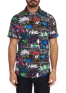 Men's Terzis Short Sleeve Shirt Size: XS by Robert Graham