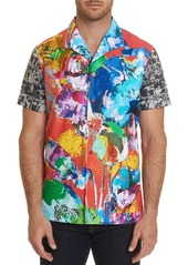 Robert Graham Men's The Flashback Short-Sleeve Graphic Sport Shirt