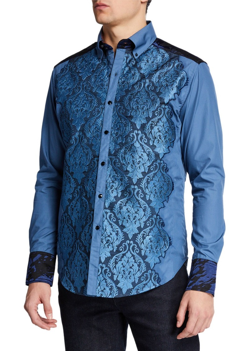Robert Graham Men's The Gladiator Damask-Motif Sport Shirt