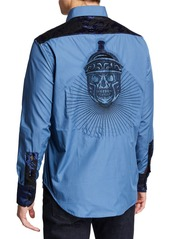 Robert Graham Men's The Gladiator Damask-Motif Sport Shirt