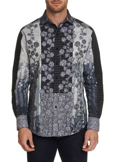 Robert Graham Men's The Kinsey Graphic Floral-Print Sport Shirt