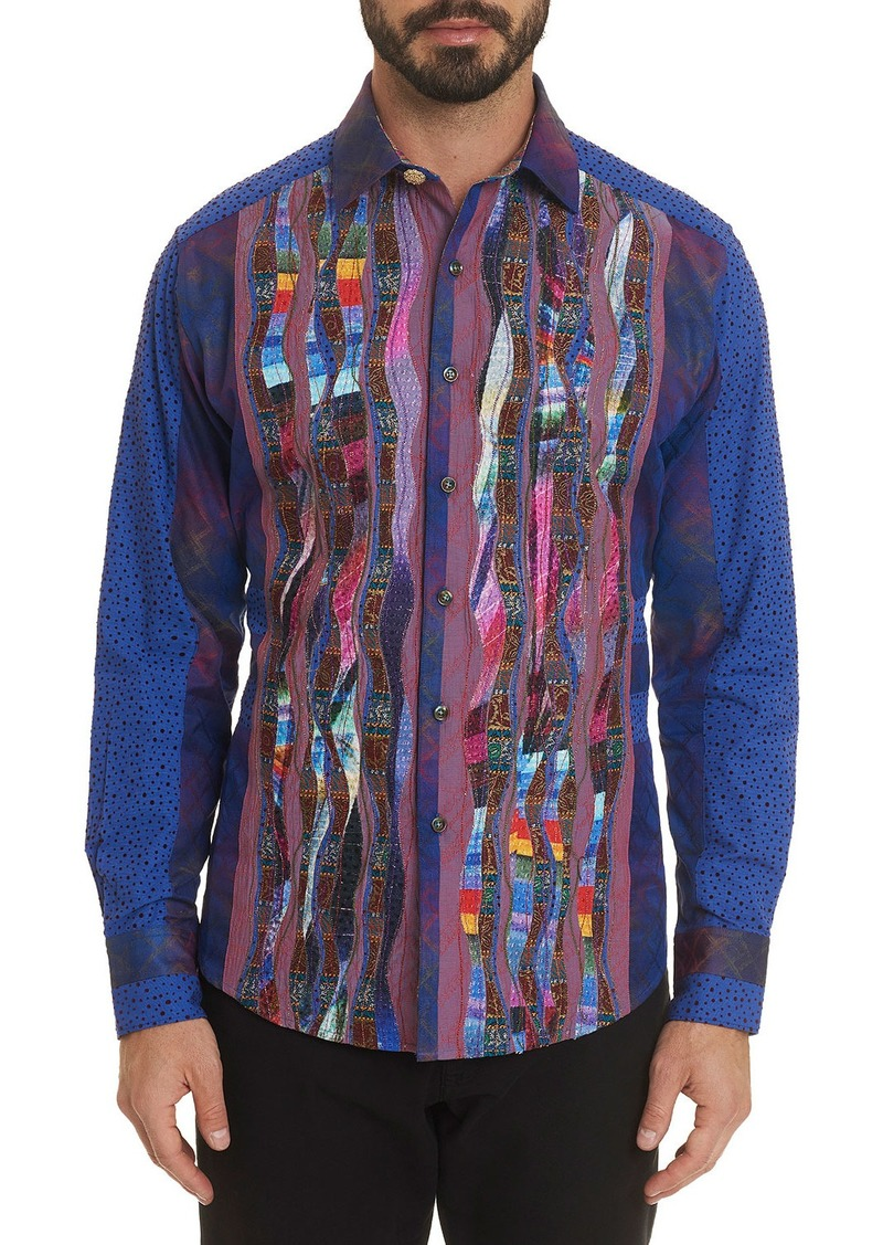 Robert Graham Men's The Osta Multipattern Sport Shirt w/ Contrast Reverse Detail