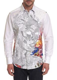 Robert Graham Men's Tigers Eyes Printed Long-Sleeve Button-Down Shirt
