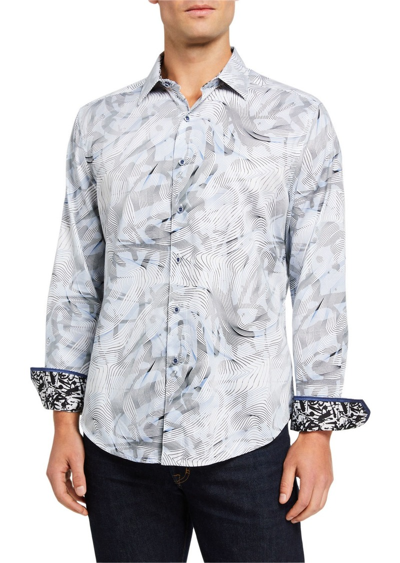 Robert Graham Men's Vinson Abstract Long-Sleeve Sport Shirt