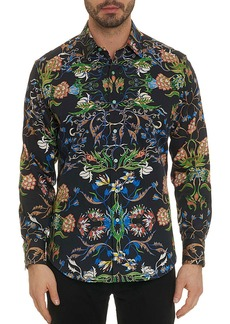 Robert Graham Men's Warner Abstract Floral Sport Shirt