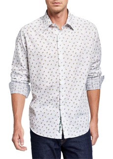 Robert Graham Men's White Hot Long-Sleeve Sport Shirt