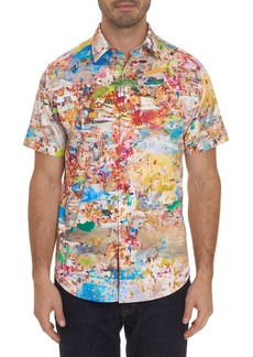 Men's Zanzibar Short Sleeve Shirt Size: XS by Robert Graham