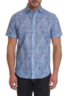 Robert Graham Merritt Teardrop Print Short Sleeve Classic Fit Shirt