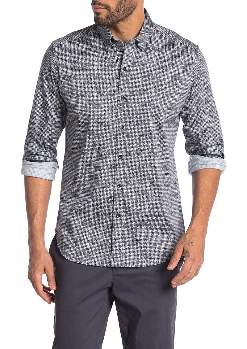 Robert Graham Merriwether Tailored Fit Paisley Printed Dress Shirt