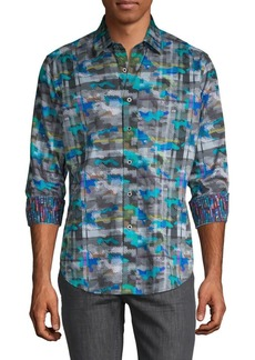 Robert Graham Mixed-Print Classic-Fit Shirt