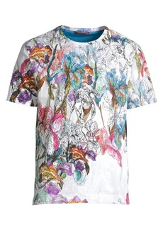 Robert Graham Multicolor Broken Blossom Graphic Shirt