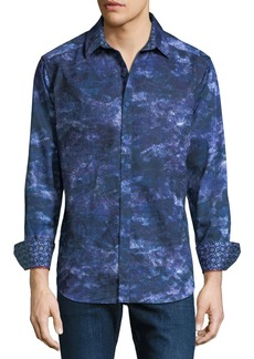 Robert Graham NM Exclusive Classic Fit Camo-Printed Sport Shirt