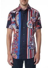 Robert Graham Otis Paisley & Stripe Sport Shirt