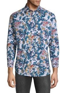 Robert Graham Paril Creek Printed Cotton Button-Down Shirt
