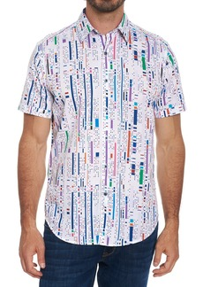 Robert Graham Patterned Edgewood Classic Fit Short Sleeve Shirt