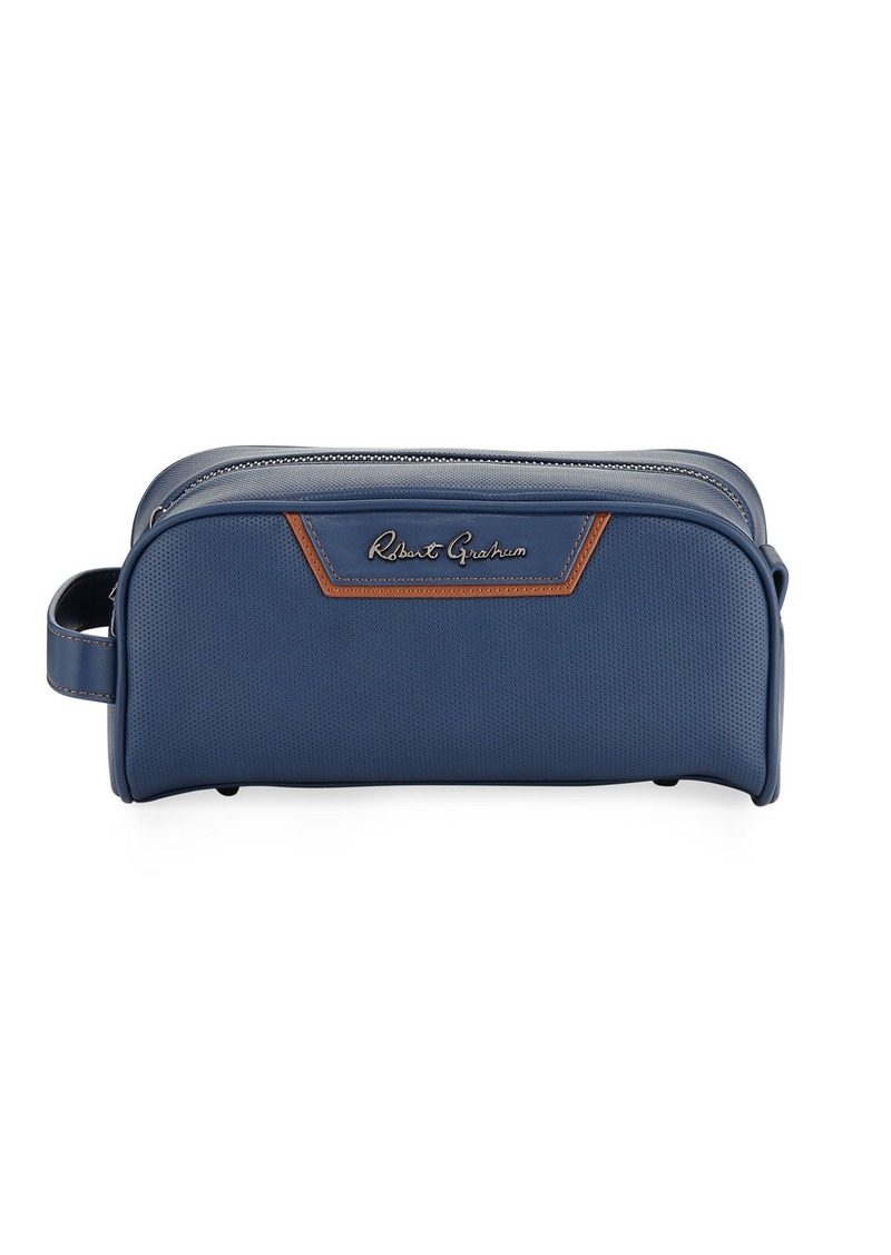 Robert Graham Perforated Travel Toiletry Case