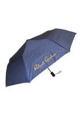Robert Graham Perran Striped/Fish Print Auto Open Umbrella