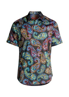 Robert Graham Piston Paisley-Print Stretch-Cotton Shirt