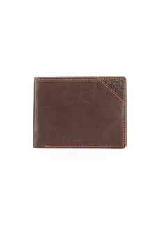 Robert Graham Pledge Slim Fold Leather Wallet