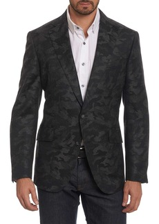 Robert Graham Portgain Camo Print Trim Fit Blazer