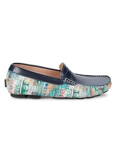 Robert Graham Printed Leather Loafers