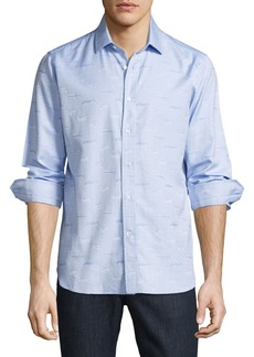 R by Robert Graham Ragtop Sport Shirt  Light Blue