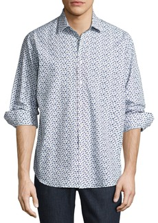 R by Robert Graham Snapshot Camera Sport Shirt  White