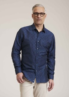 R Collection Amusement Sport Shirt In Navy Size: M by Robert Graham