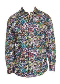 Robert Graham Rallis Floral Cotton Button-Down Shirt