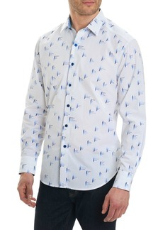 Robert Graham Reid Regular-Fit Modern Geo Button-Down Shirt