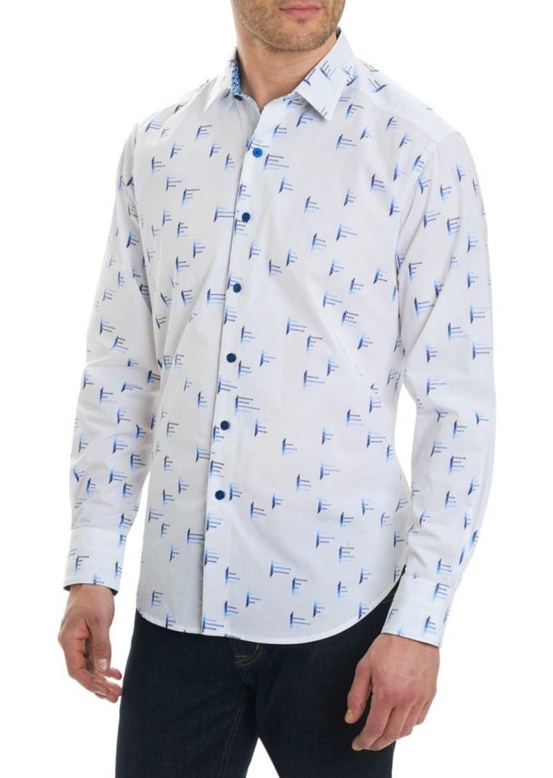 Robert Graham Reid Regular-Fit Modern Geo Button-Down Shirt