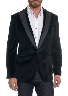Robert Graham Richter Peak Lapel One Button Trim Fit Blazer