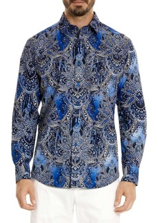 Robert Graham Rivero Cotton Button-Down Shirt