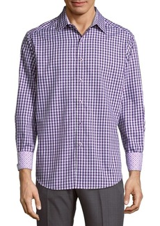 Robert Graham Aarts Avenue Cotton Casual Button-Down Shirt
