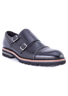 Robert Graham Acadia Double Buckle Monk Shoe (Men)