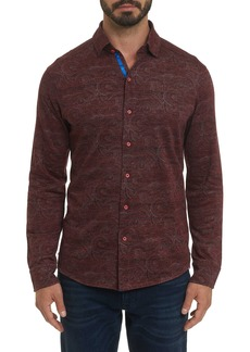Robert Graham Agoda Paisley Knit Long Sleeve Shirt
