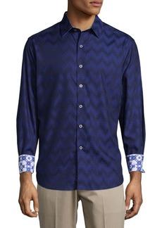 Robert Graham Airfield Road Cotton Casual Button-Down Shirt