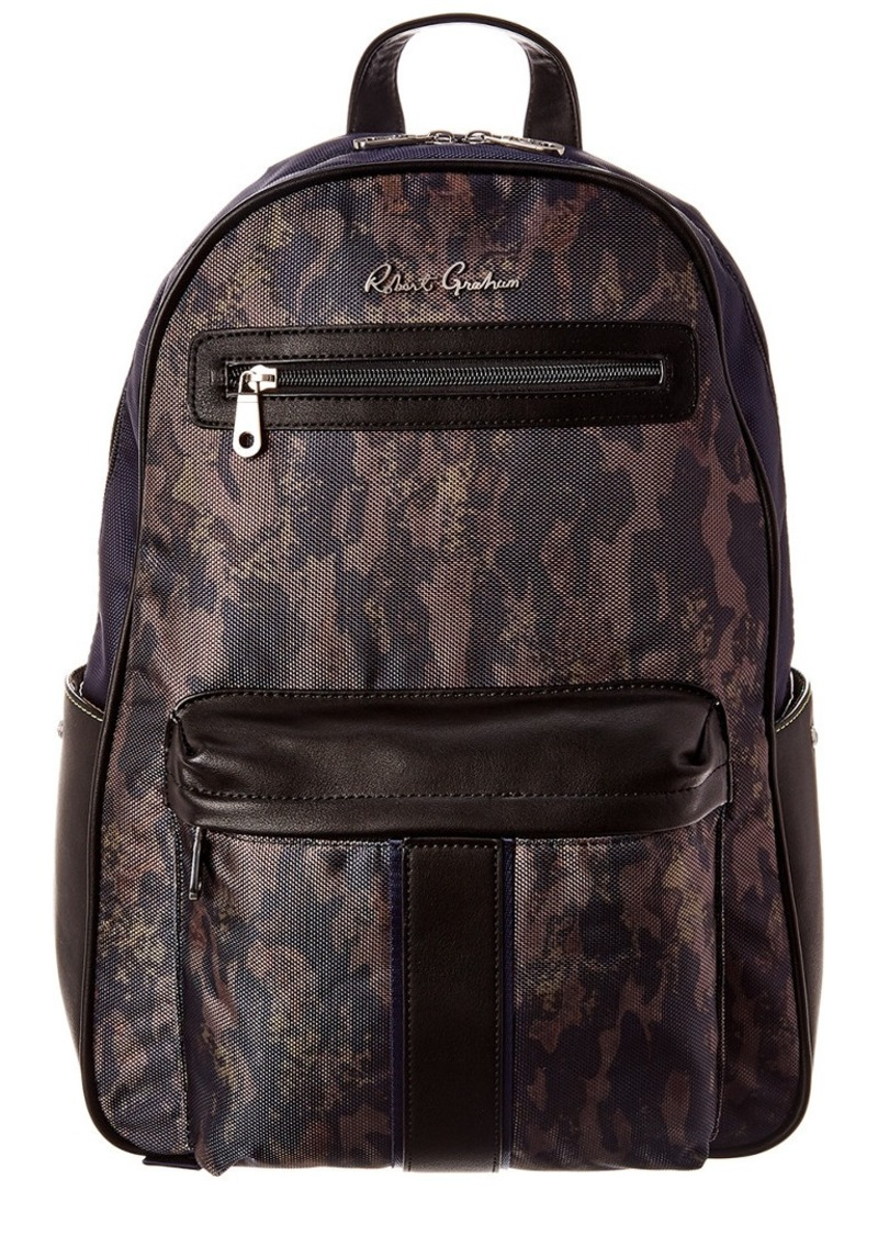 Robert Graham Alban Leather-Trim Backpack