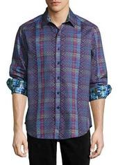 Robert Graham Albert Finney Long-Sleeve Plaid Sport Shirt