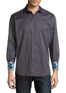 Robert Graham Alderaan Striped Diamond Shirt