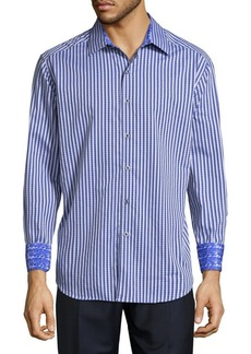 Robert Graham Alfriston Cotton Casual Button-Down Shirt